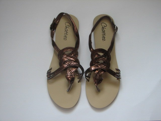 Women's Bronze Gladiator Sandals Size 5/6 (Small)