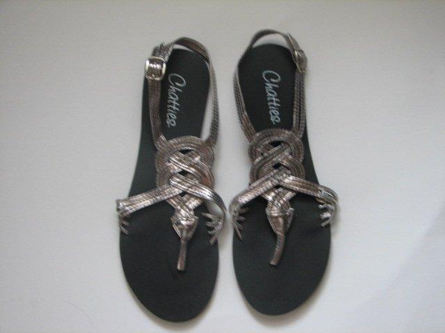 Women's Gunmetal Gladiator Sandals Size 9/10 (Large)