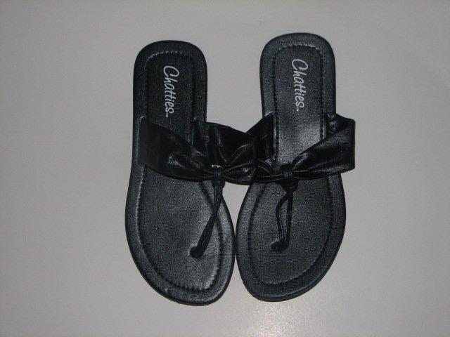 Women's Navy T-Strap Sandals Large (9-10)