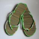 Women's Flip Flops Printed Green Bamboo Size 10
