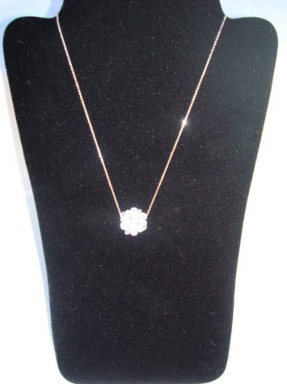 Swarovski Crystal Necklace on Sterling SIlver Chain