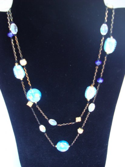 Beautiful Multi-Layered Necklace with Tourquoise