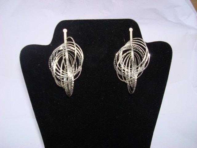 Sterling Silver & Cubic Zarconia Earrings