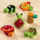 Frog Turtle Lampwork Glass Bead Assortment Set of 24