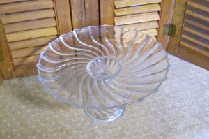 Crystal Pedestal Cake Stand