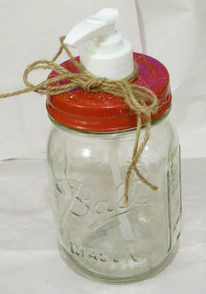 Mason jar soap ~ lotion ~ hand sanitizer dispenser