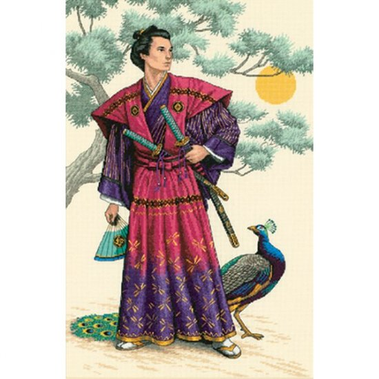 Dimensions Gold Collection - Mighty Samurai Cross Stitch Kit