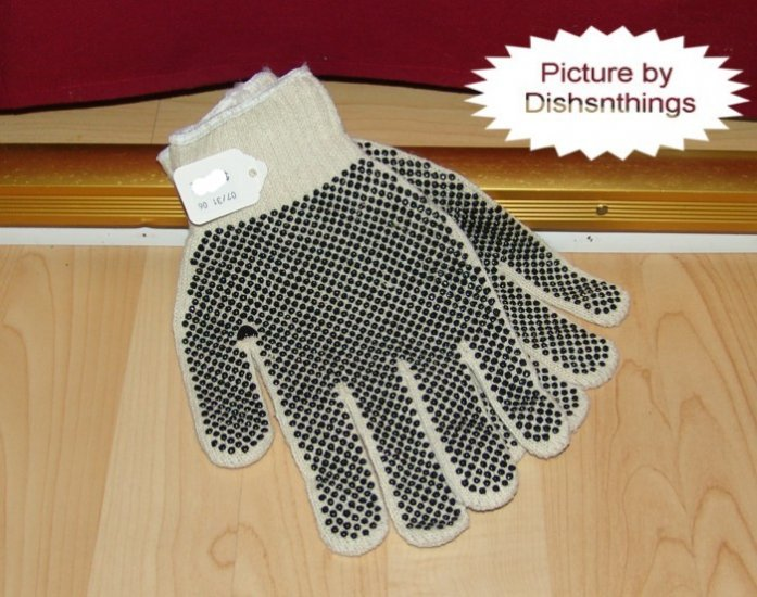 Black Rubber Dot Glass Sheet Safety Glove Pair NEW!!