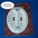 Pfaltzgraff YORKTOWNE Pottery Double Switch Plate NIB