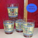 Pfaltzgraff SUMMER BREEZE Set of 4 Water Glasses NOS
