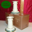 Pfaltzgraff PATINA Bone China Candlestick Pair NIB USA