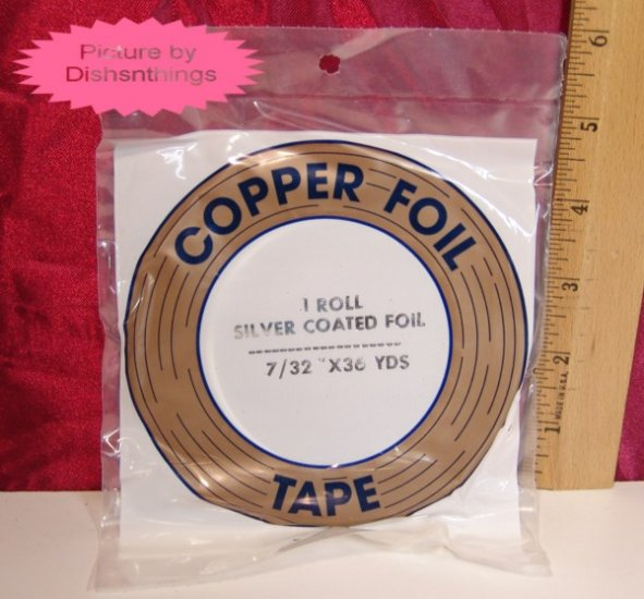 EDCO 7/32 Copper Silver Foil Tape 36 yard 1 mil NIB USA