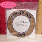 EDCO 7/32 Copper Silver Foil Tape 36 yard 1 mil NIB USA