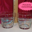 Pfaltzgraff APRIL set of 2 Glass Planters MINT!
