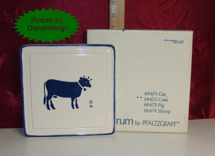 Pfaltzgraff SPECTRUM Square Trivet w/Cow 1984 NIB!!!