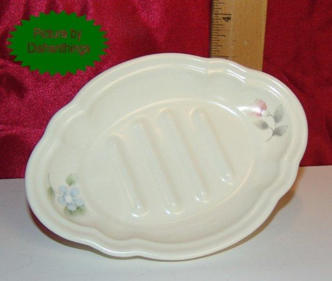 Pfaltzgraff TEA ROSE Scalloped Soap Dish USA MINT!