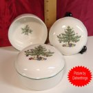 NIKKO Christmastime TWO Lidded Trinket Boxes MINT !