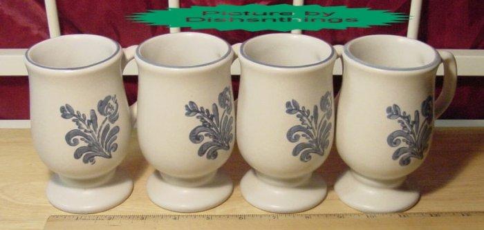 Pfaltzgraff YORKTOWNE Pedestal Mugs (4) USA MINT!