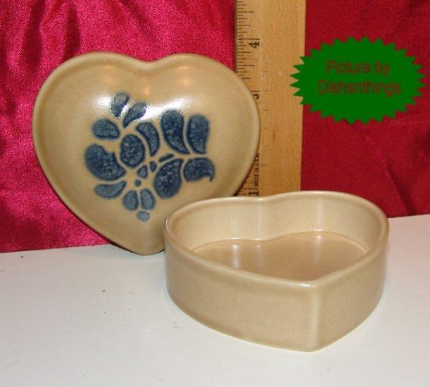 Pfaltzgraff FOLK ART Lidded Heart Trinket Box MINT USA