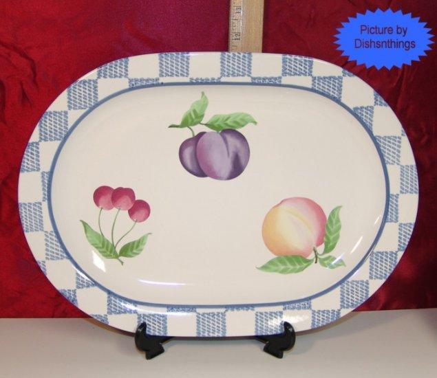 Pfaltzgraff HOPSCOTCH 14 inch Oval Serving Platter A+