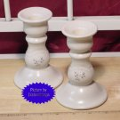 Pfaltzgraff HEIRLOOM Tall Taper Candle Set A+ USA!!