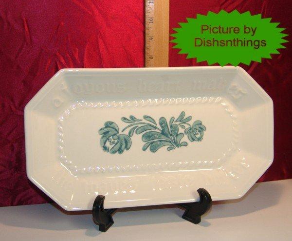 Pfaltzgraff GREEN YORKTOWNE Joyous Bread Platter USA