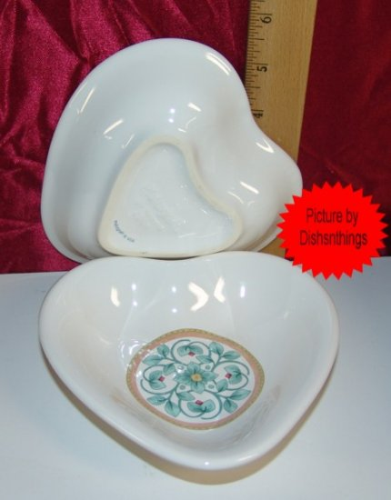 Pfaltzgraff FRENCH QUARTER 2 Small Heart Plates NEW!!