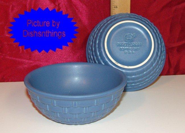 Pfaltzgraff Blue Basket Sculpted Berry Bowls 2 MINT USA