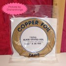 EDCO 7/32 Copper Black Foil Tape 36 yards 1 mil NIB USA