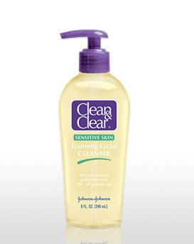 6 CLEAN & CLEAR FOAMING FACIAL CLEANSER SENSITIVE SKIN