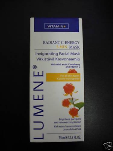 6 LUMENE Renew Relax Radiant C ENERGY 5Min Facial Mask
