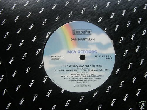 DAN HARTMAN - STREETS OF FIRE - I CAN DREAM ABOUT YOU