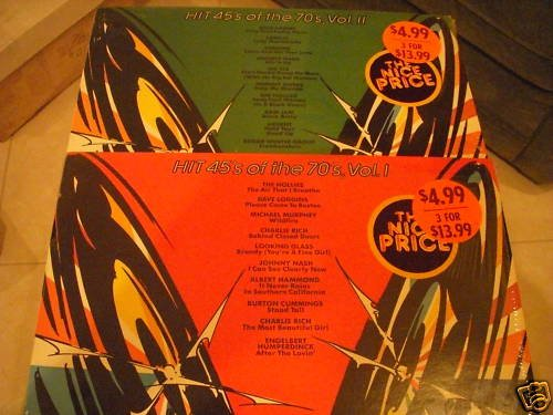 HIT 45 OF THE 70s- VOLUMES 1 & 11 - EPIC LP - NEAR MINT