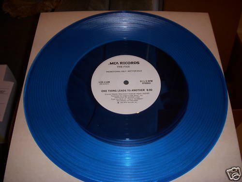 THE FIXX - ONE THING LEADS TO ANOTHER-MCA BLUE VINYL PR