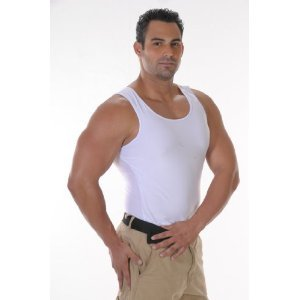 Mens Compression Undershirt, Black, Small, waist cincher T-Shirt, Seen on TV, Mens slimming shirt