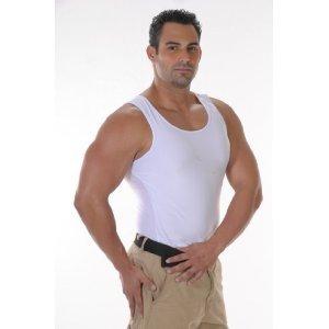 Mens Compression Undershirt, Black, Large, waist cincher T-Shirt, Seen on TV, Mens slimming shirt