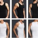 Men Body Shaper White Large,Slimming Men Waist Cincher,Men Compression Shirt,Slimming Shirt