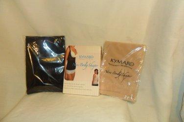 4 Kymaro Tops, 2 Black 2 Nude Body Shaper Body Shapewear Small
