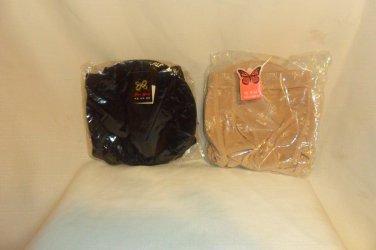 2 Pair Padded Panties Removable Pads, Padded Panty Hip Size 24 Medium Pants 2 Black