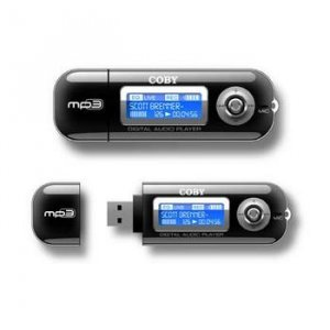 COBY MP3 PLAYER/USB FLASH DRIVE WITH BUILT-IN 128MB FLASH MEMORY