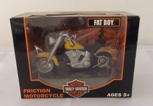 COLLECTIBLE HARLEY DAVIDSON FRICTION MOTORCYCLE TOY FAT BOY