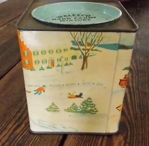 Vintage Collectible WALEECO 2 LB BANK HARD CANDY MIXTURE TIN