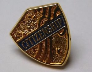 Vintage Gold Tone PAC Citizenship Lapel Pin