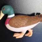 Collectible Clay Critters Mallard Duck Refrigerator Magnet Swarovski Crystal Eye
