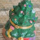 Ceramic Christmas Tree Trinket Jewelry Box