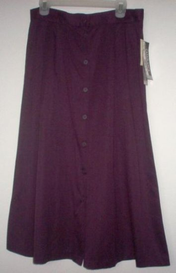 brand new CASABLANCA plum colored long full skirt size 16 NWT