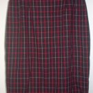 brand new KASPER AND COMPANY size 10 red plaid skirt NWOT