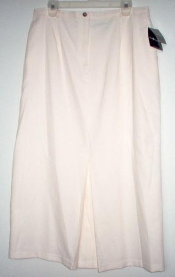 BRAND NEW SAG HARBOR cream long skirt size 16 NWT