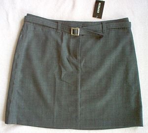 NEW 3/4 trendy sexy EXPRESS stretch skirt NWT mini with belt