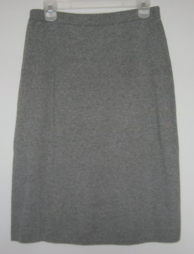 LIZ CLAIBORNE gray skirt size Large CAREER LIKE NEW